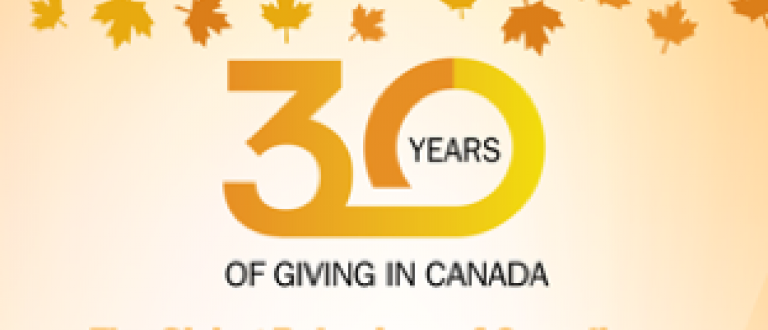 30 Years Of Giving In Canada